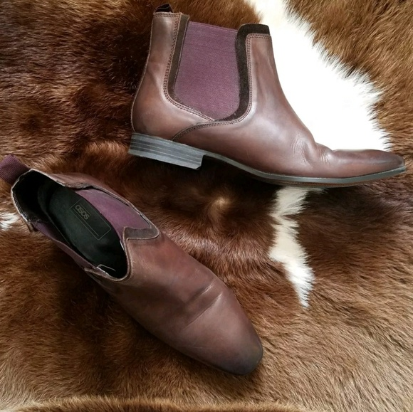 37a4ba13d38 Asos Chancery Leather Chelsea Boots brown